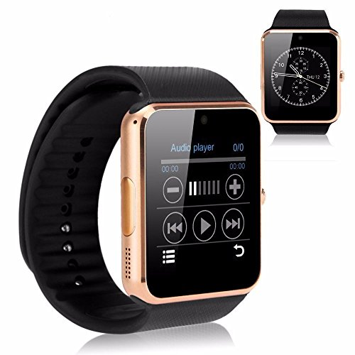 bluetooth smart watch uhr f r android ios smartphones. Black Bedroom Furniture Sets. Home Design Ideas