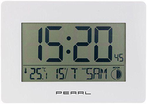 Pearl Digitaluhr Funk Wanduhr Mit Jumbo Uhrzeit Temperatur