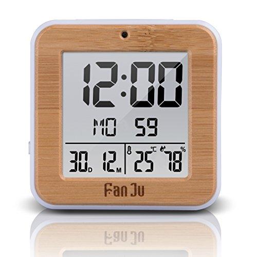 fanju fj3533 lcd digital wecker kleiner mit doppelalarm batterie betrieben auto nachlicht. Black Bedroom Furniture Sets. Home Design Ideas