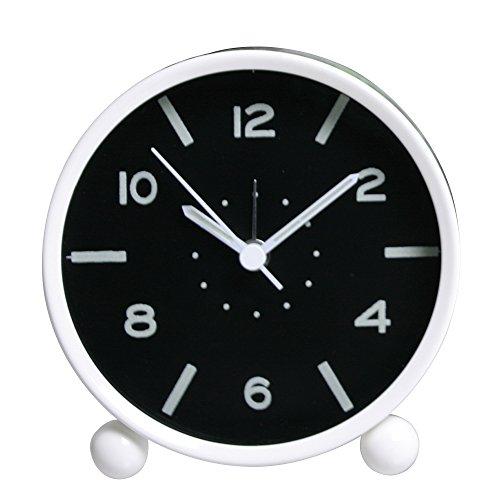 analog wecker mit nachtlicht skitic kein ticken rund mute alarm clock retro ger uschlos wecker. Black Bedroom Furniture Sets. Home Design Ideas