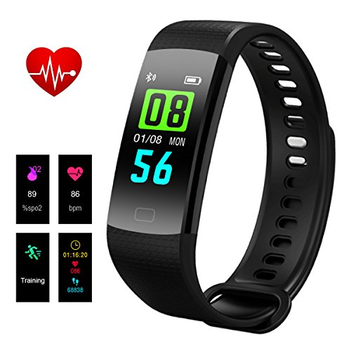 yamay wasserdicht ip68 fitness tracker armband und. Black Bedroom Furniture Sets. Home Design Ideas