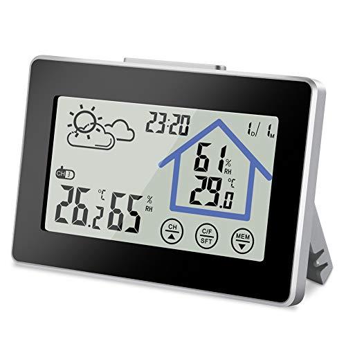 vegena wetterstation funk mit au ensensor innen au en thermometer hygrometer wettervorhersage. Black Bedroom Furniture Sets. Home Design Ideas