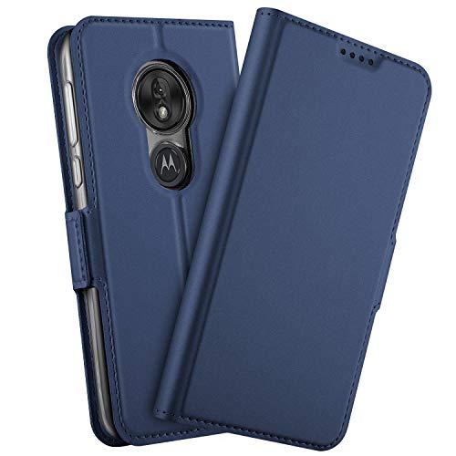 b900c0e69a GEEMEE Hülle für Motorola Moto G7 Power, Premium PU Hülle Case Tasche Leder  Brieftasche Schutzhülle Standfunktion Flip Handyhülle Cover Blau