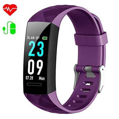 c182a2b1de5327 ... Tracker Uhr Pulsmesser Wasserdicht IP67 Blutdruckmesser Schrittzähler  Uhr Stoppuhr Sport GPS Aktivitätstracker Schlafmonitor für Kinder Damen  Männer